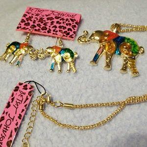 Betsey Johnson Elephant set